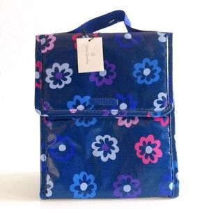 Vera Bradley Navy Floral Thermal Lunch Bag